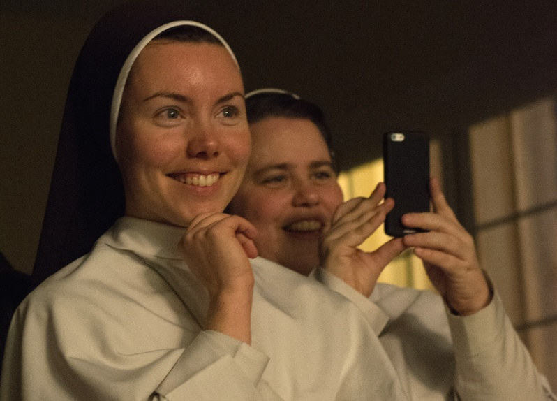 Dominican Sisters of Mary from Ann Arbor were among the audience.